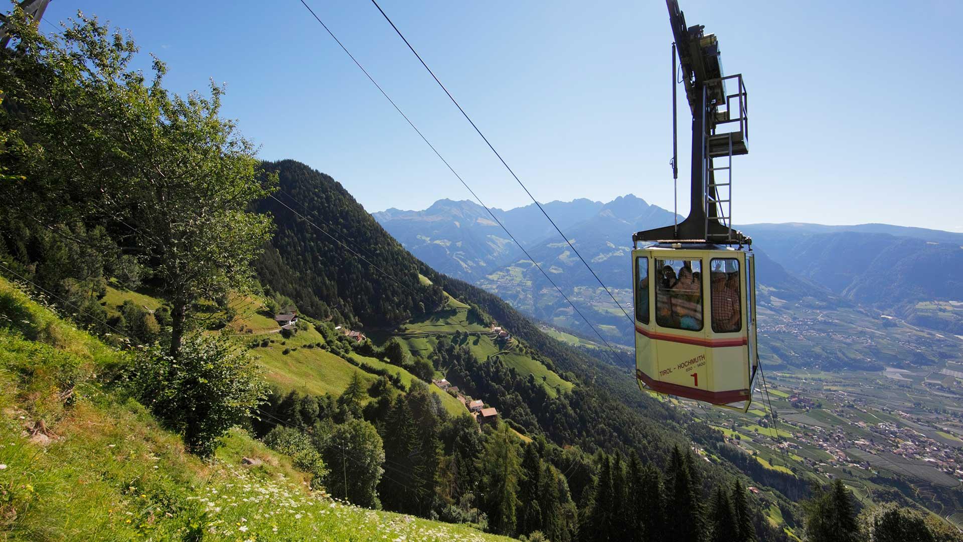 La funivia Alta Muta - Tirolo