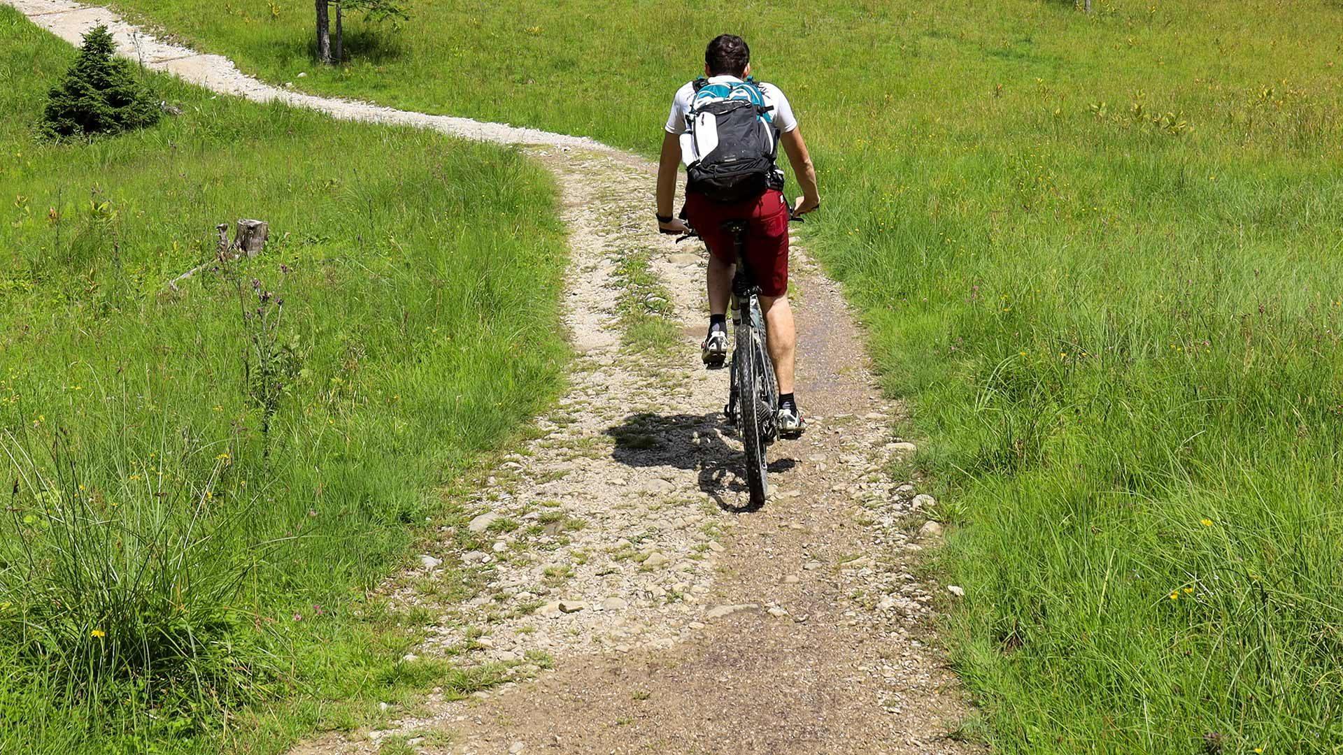 Tour in bicicletta alla malga Klosteralm