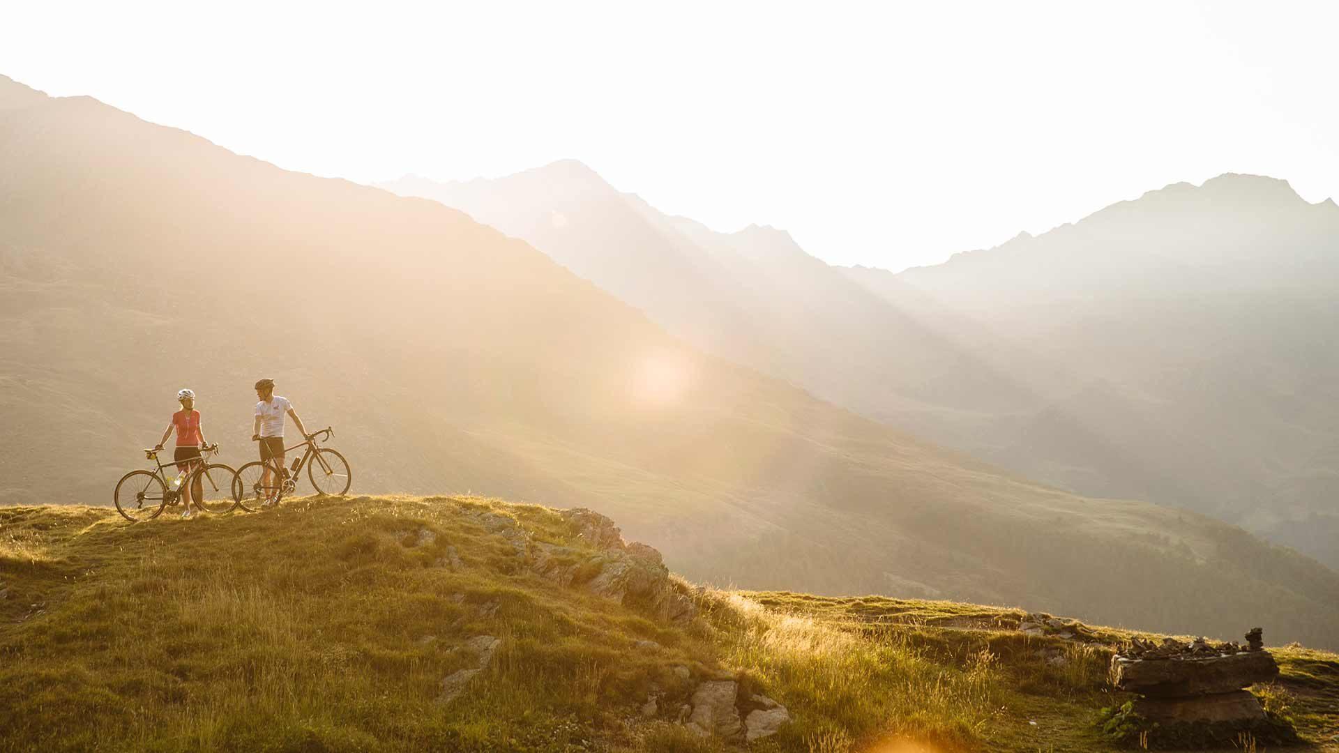 Con la bici da corsa al Passo del Rombo in Alto Adige