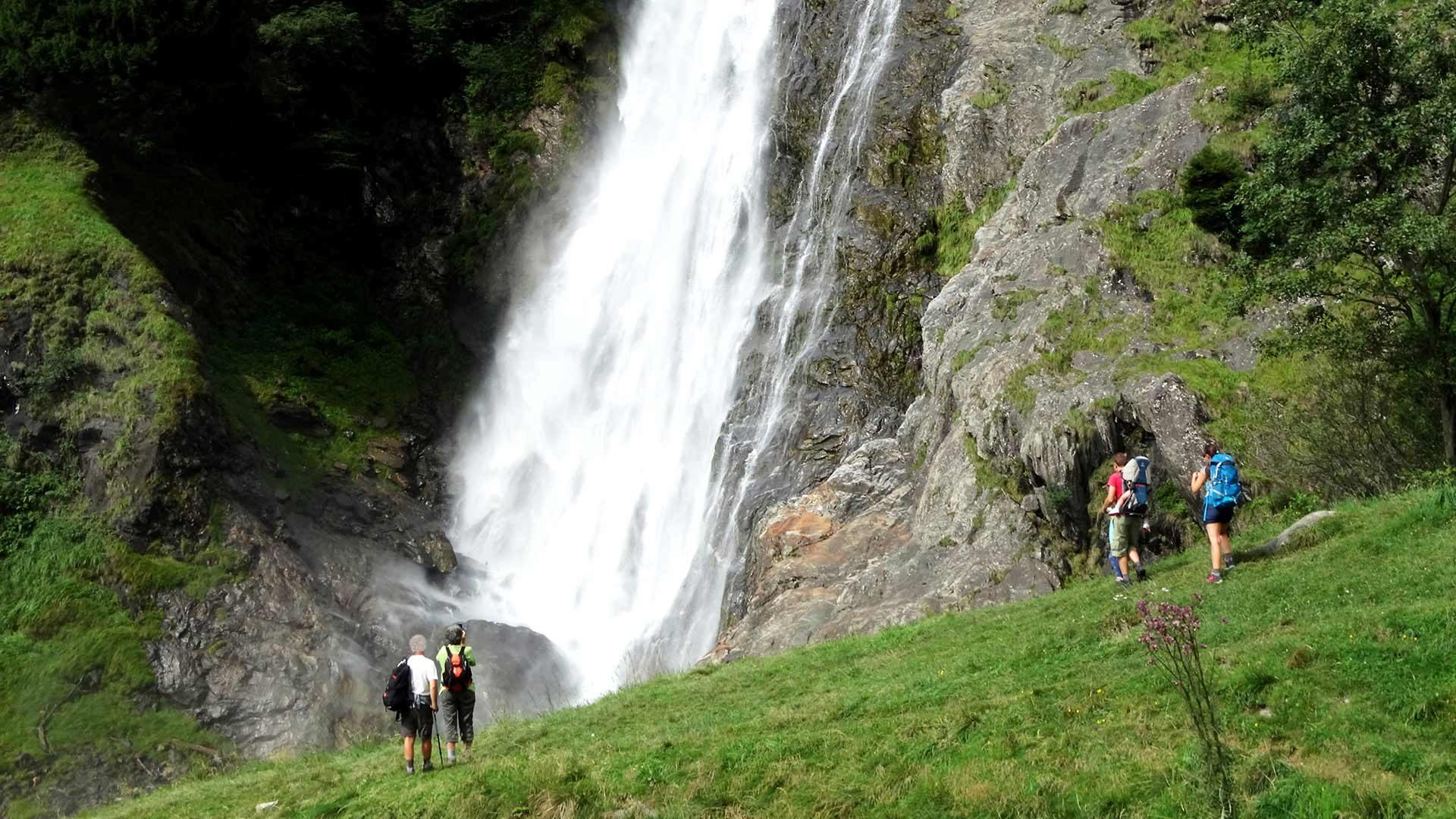 Escursione alla cascata di Parcines