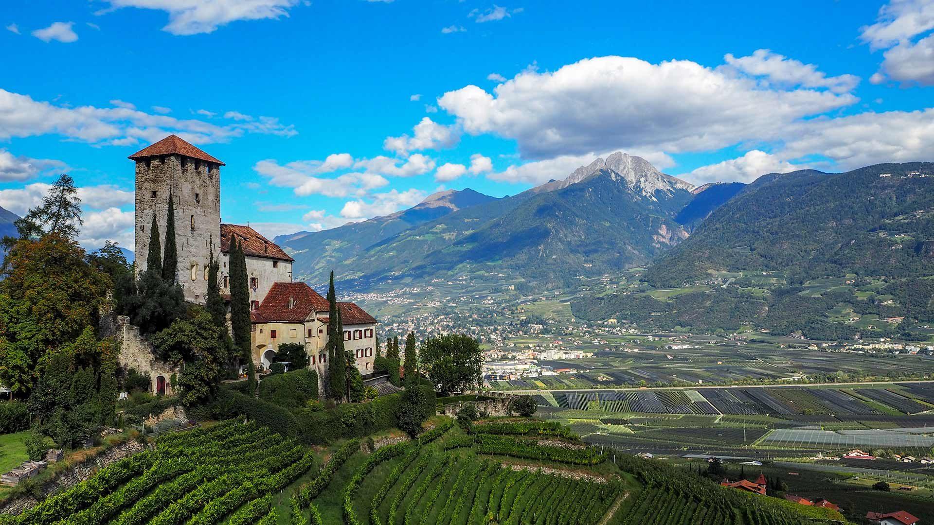 Vista sul Castel Lebenberg