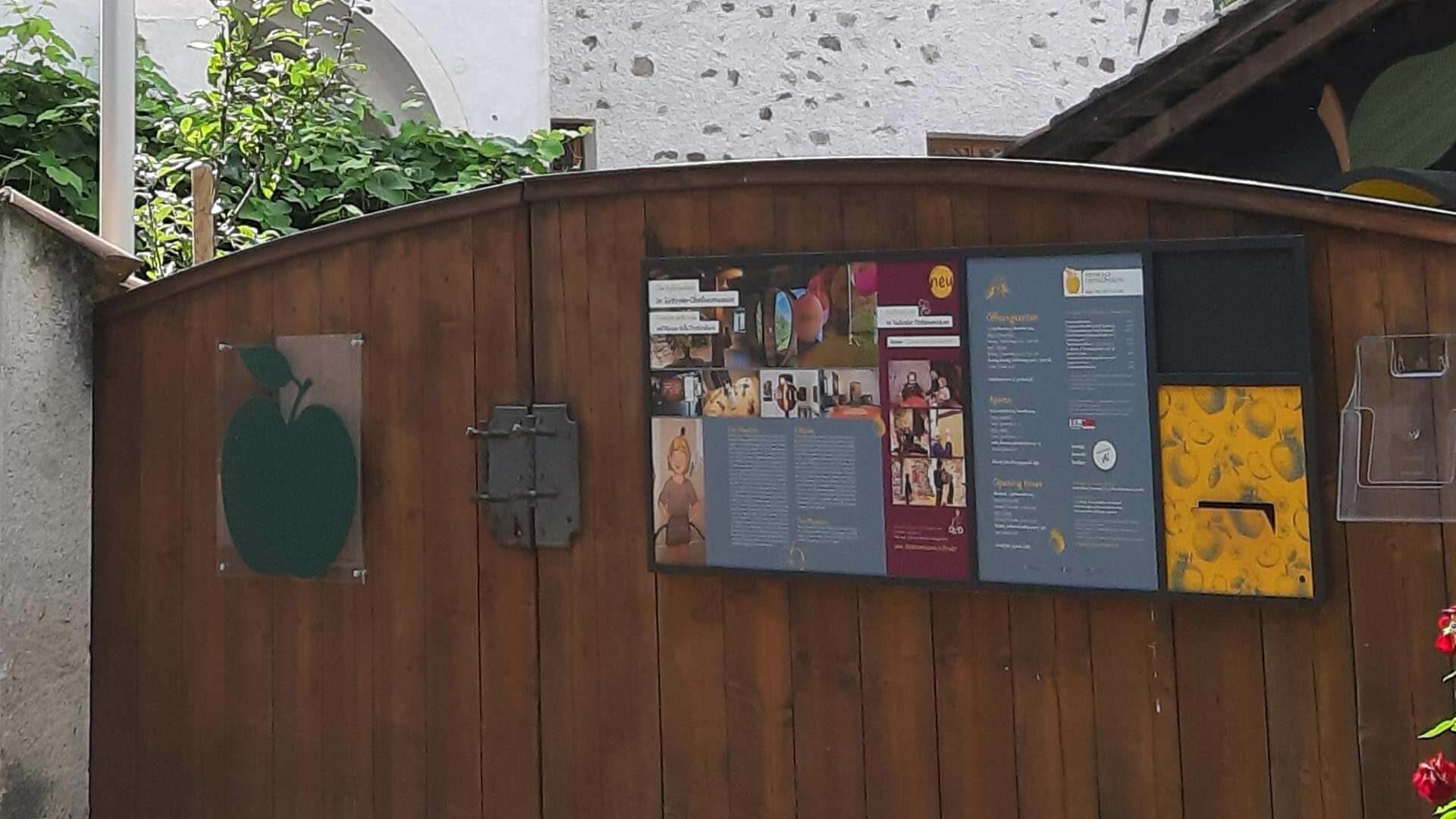 L'entrata del Museo della frutticoltura a Lana