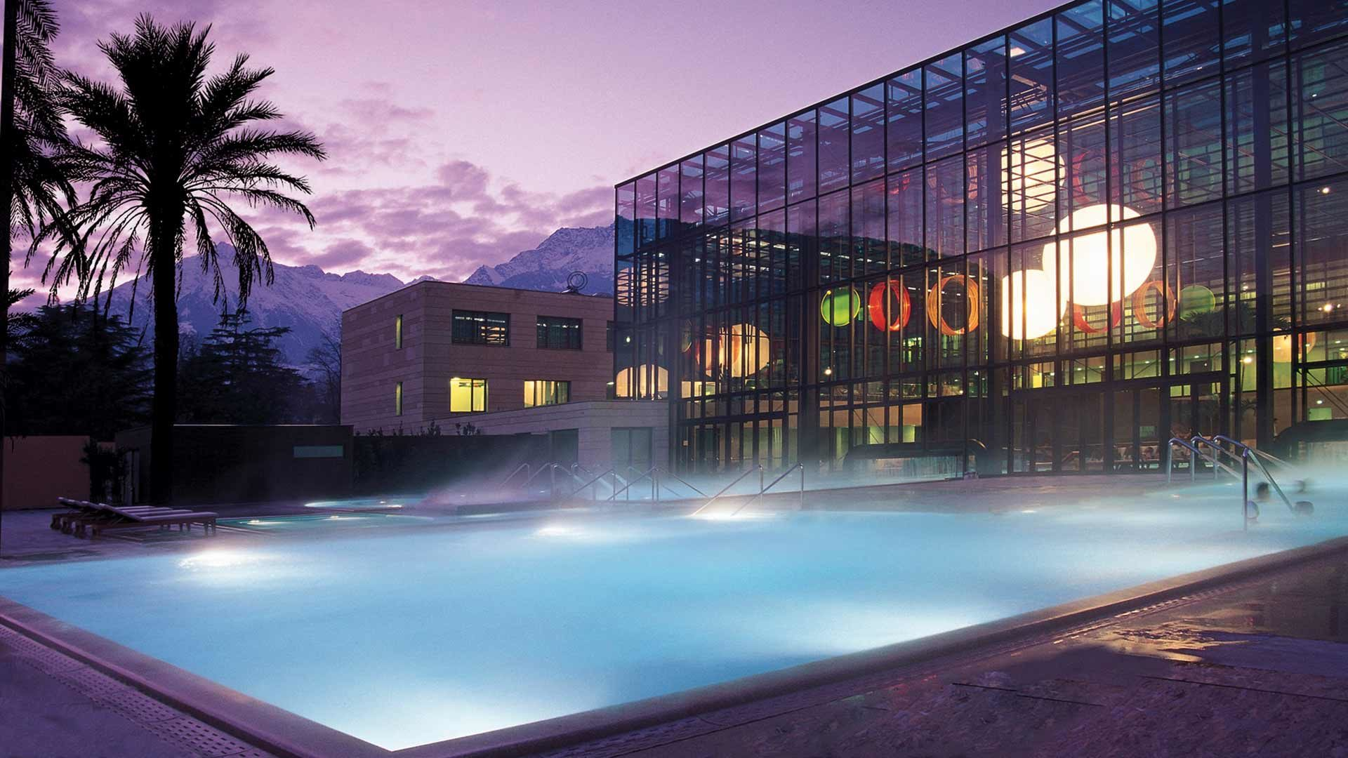 Terme Merano - piscina all'aperto