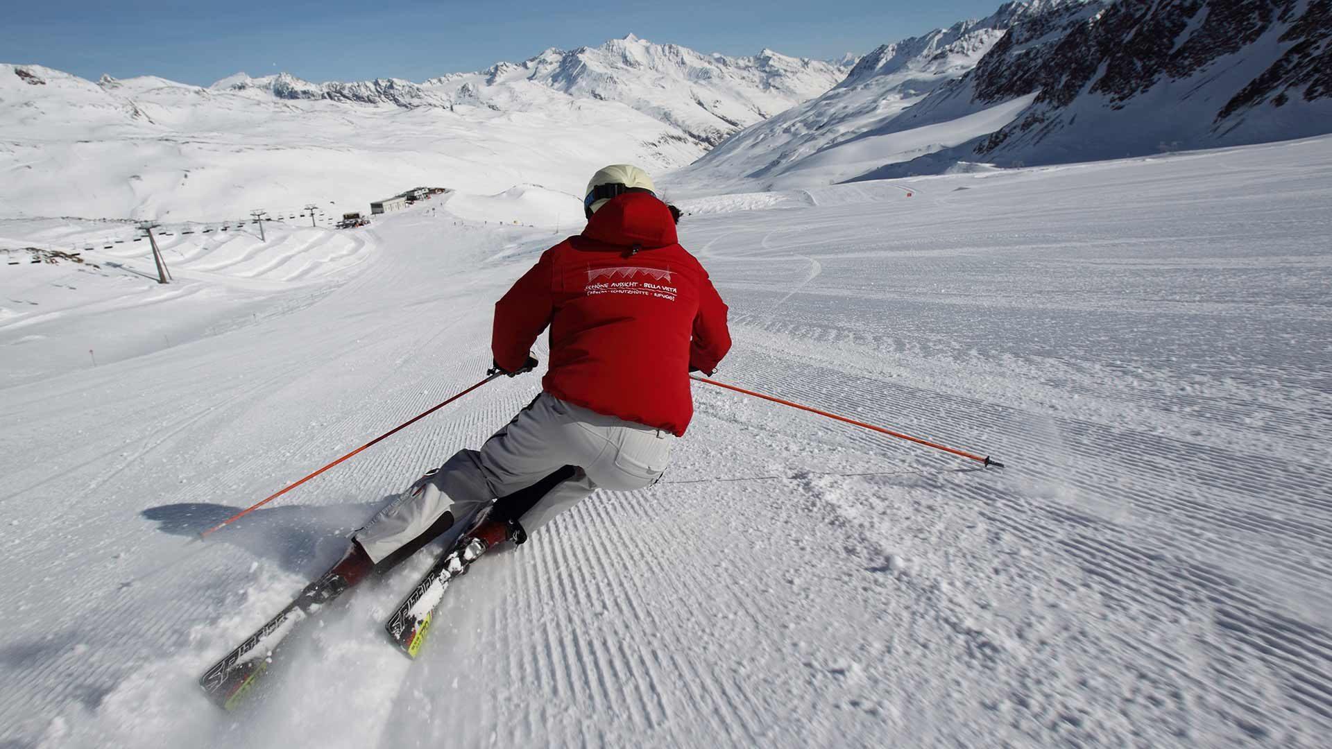 Area sciistica del ghiacciaio di Senales - sciare