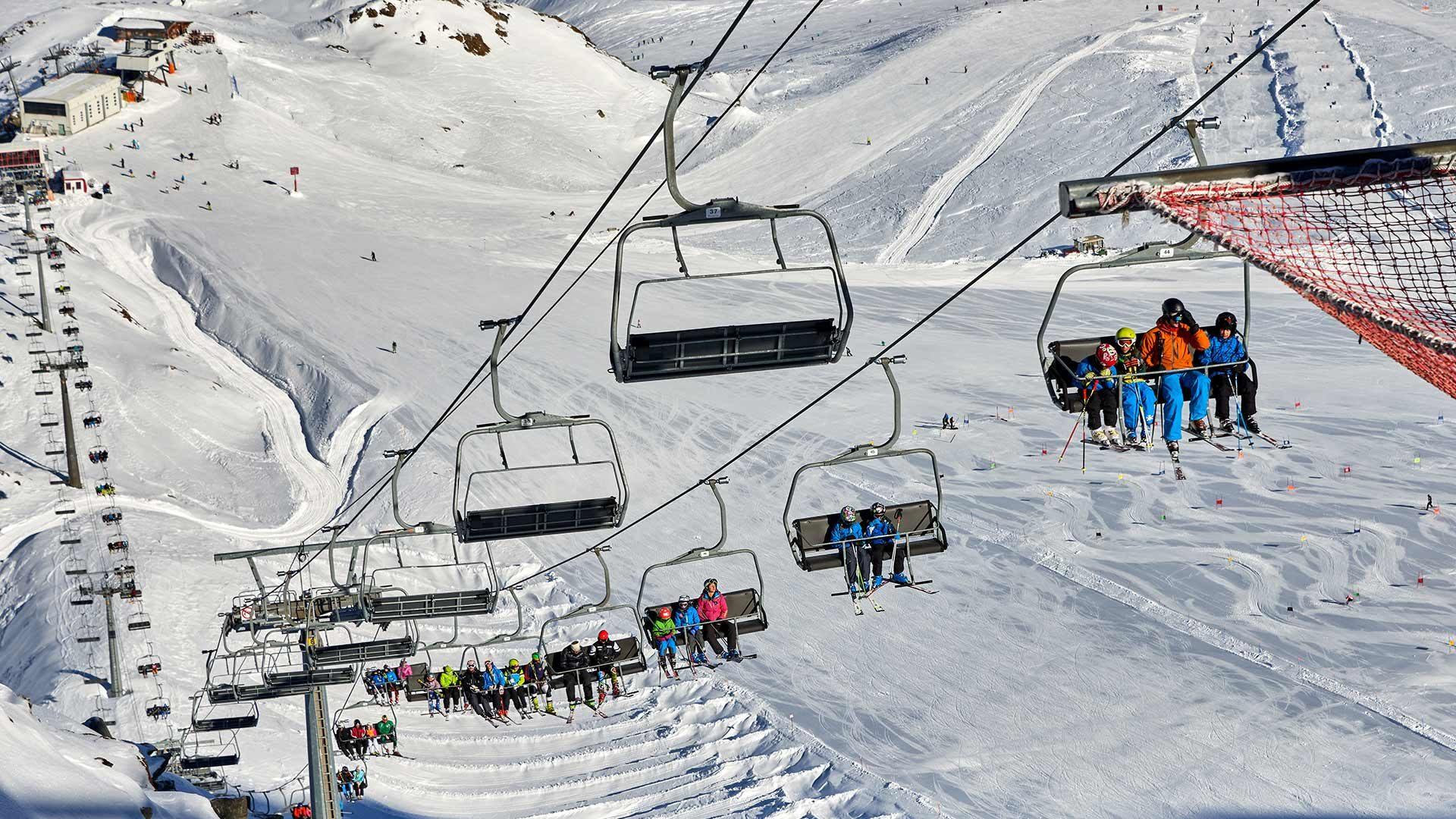 Area sciistica del ghiacciaio di Senales, Alto Adige