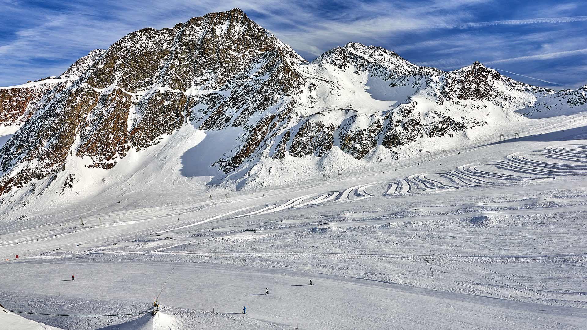 Sciare in Alto Adige sul ghiacciaio