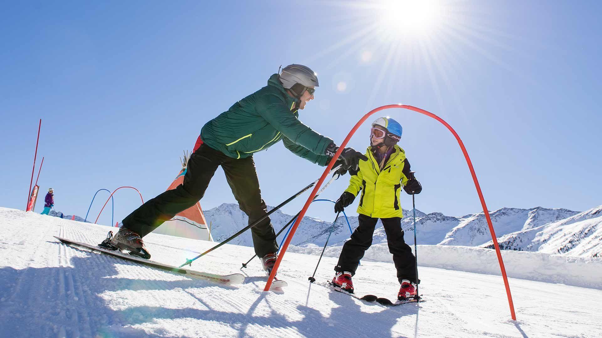 Area sciistica del ghiacciaio di Senales - imparare a sciare