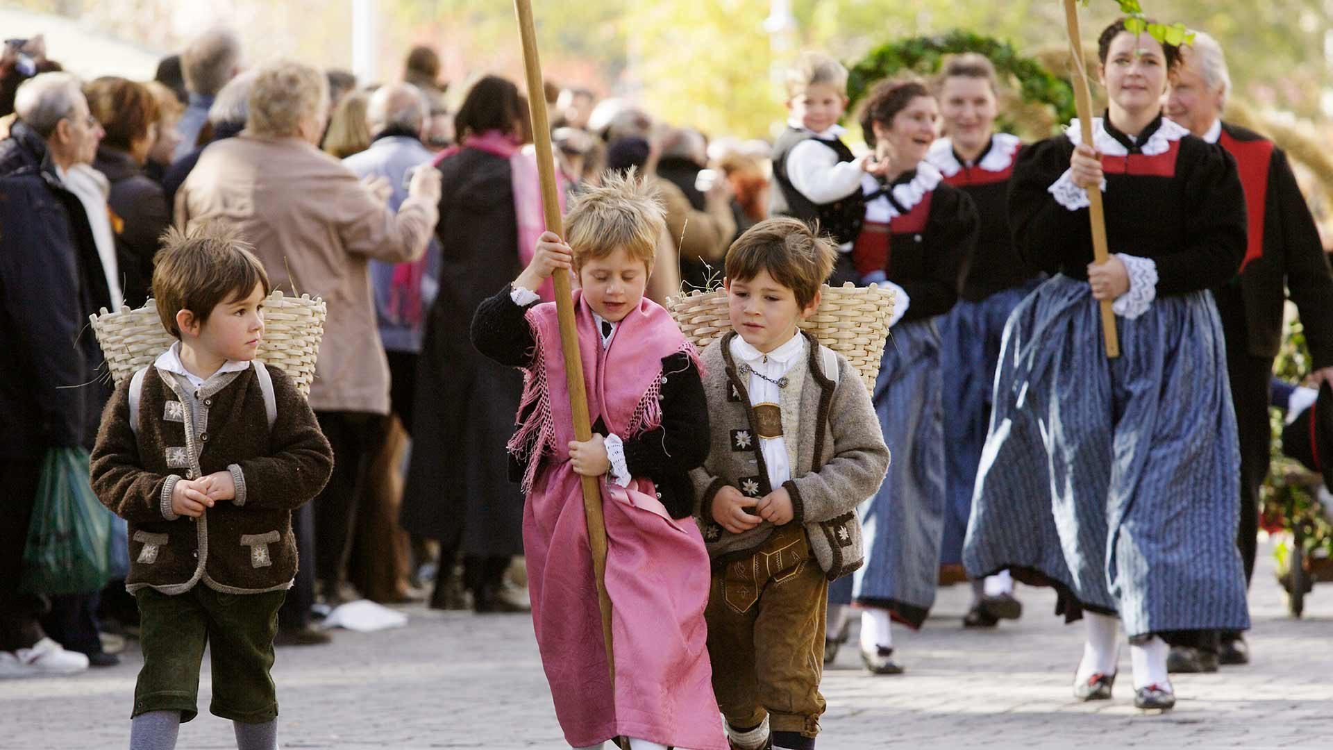 Il grande corteo - Festa dell'Uva a Merano