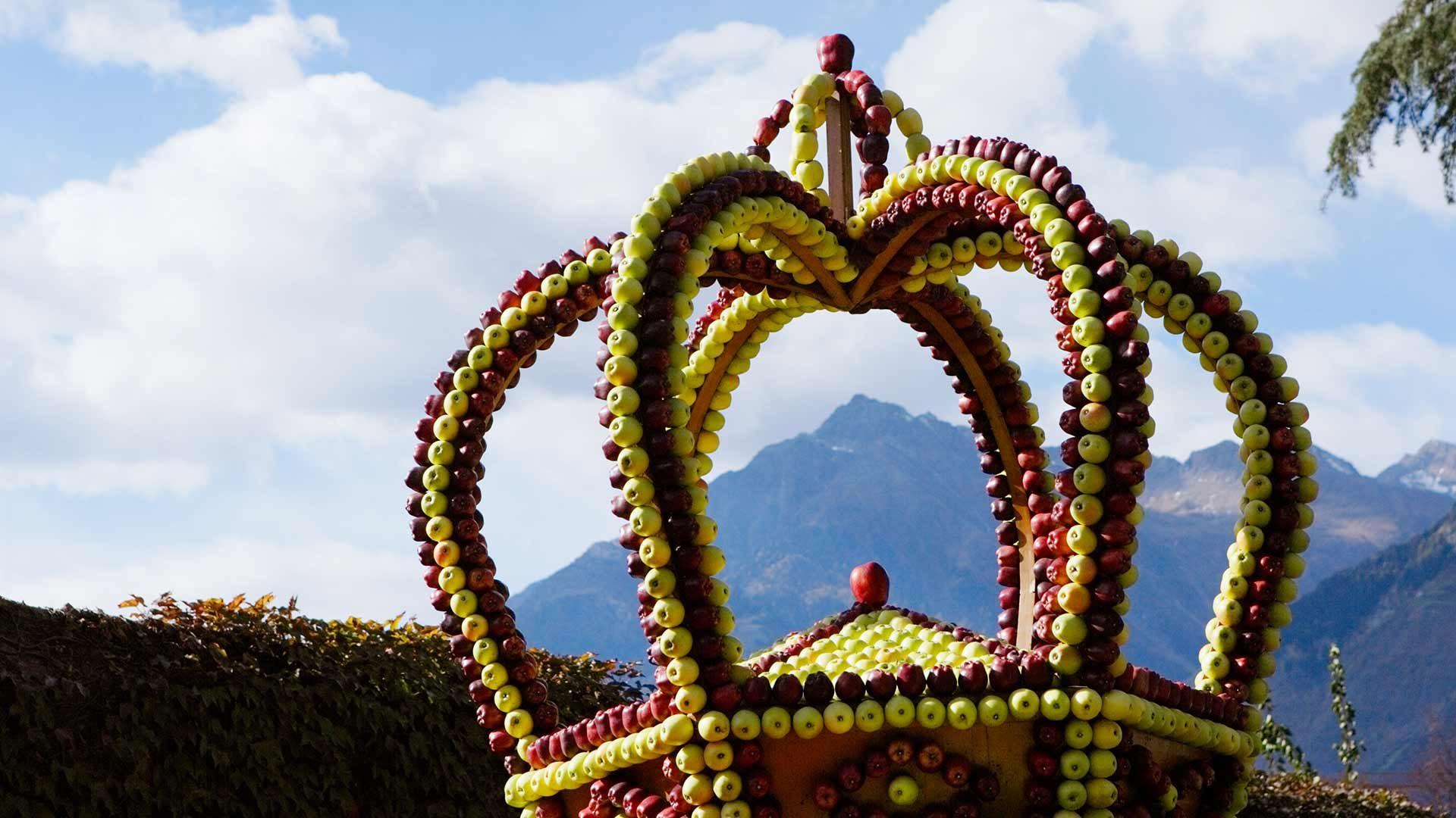 Festa dell'Uva a Merano - La corona di mele