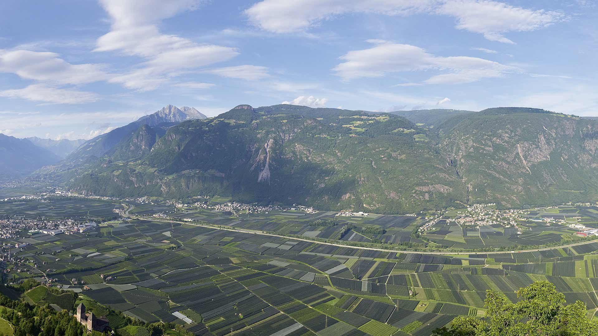 Sentiero panoramico sopra il Burgraviato
