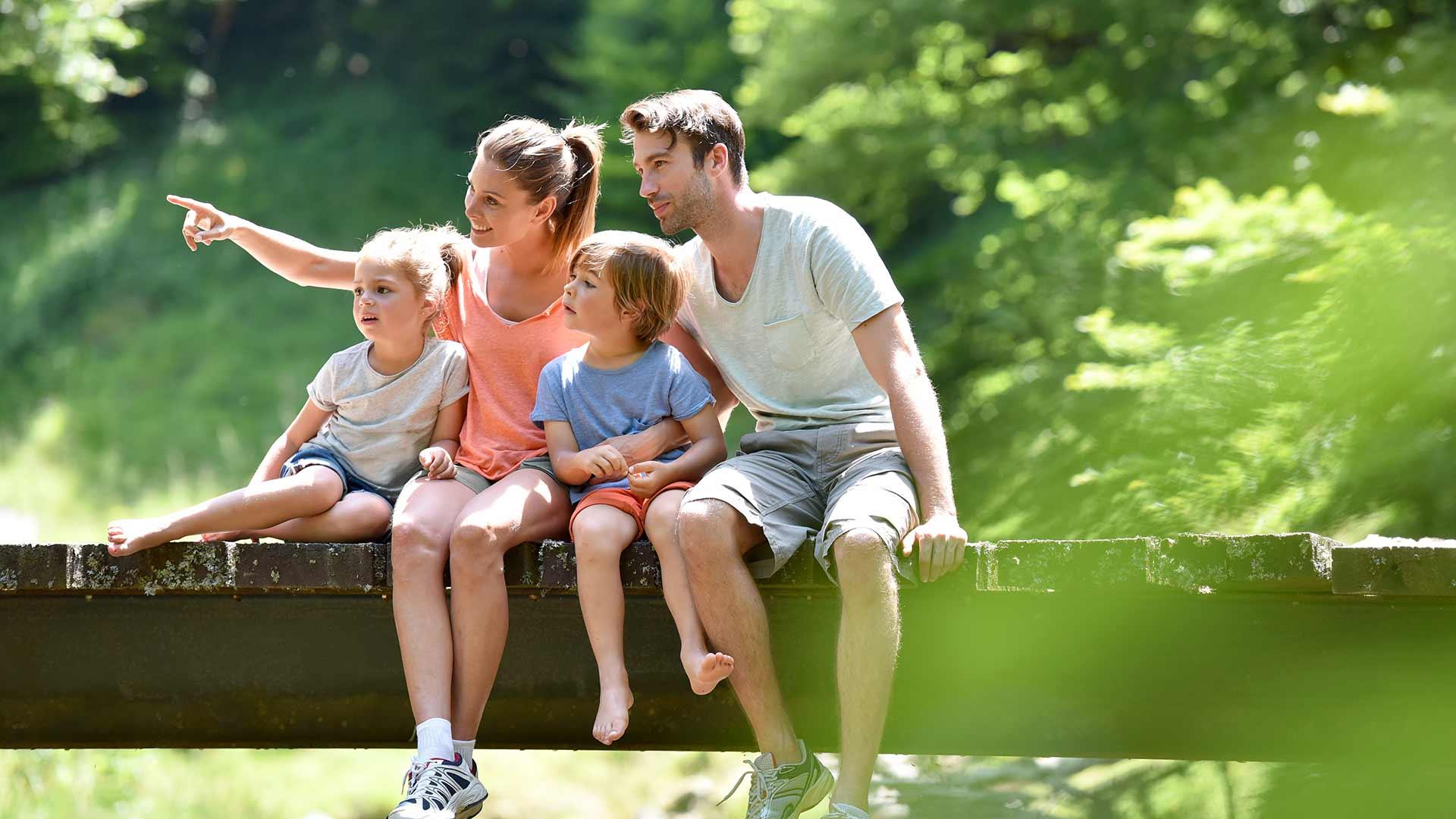 Vacanza escursionistica con la famiglia